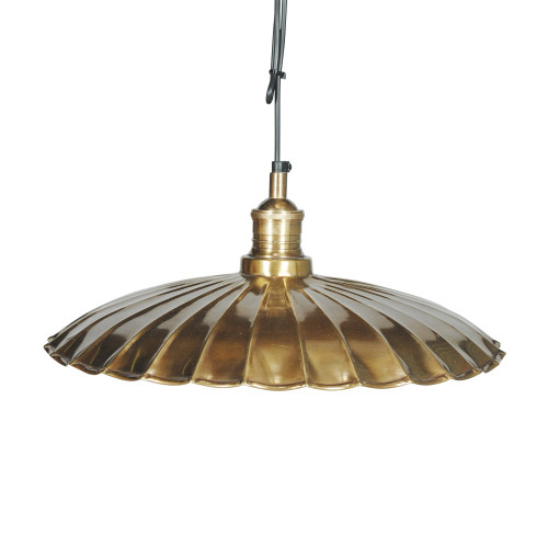 HANGING SHADE, ANT. BRASS 80