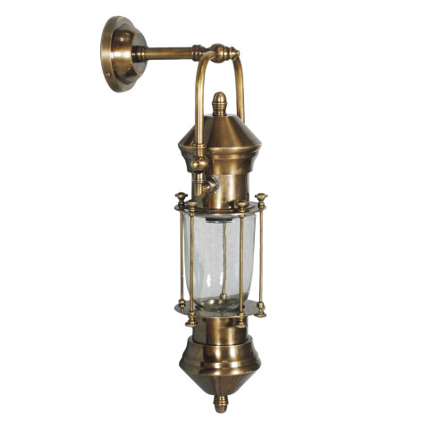 WALL LAMP, ANT. BRASS 92