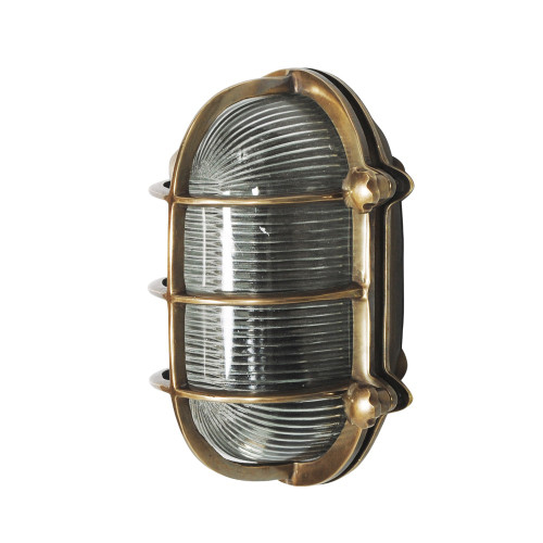 WALL LAMP, ANT. BRASS 25