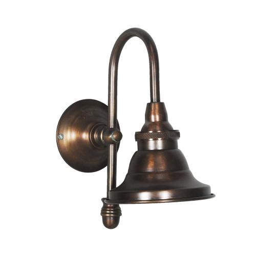WALL LAMP, ANT. DARK BRASS 43