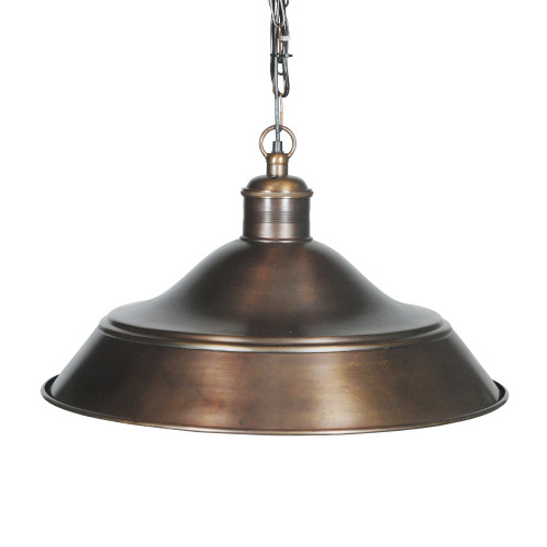 HANGING LAMP, ANT. DARK BRASS 90