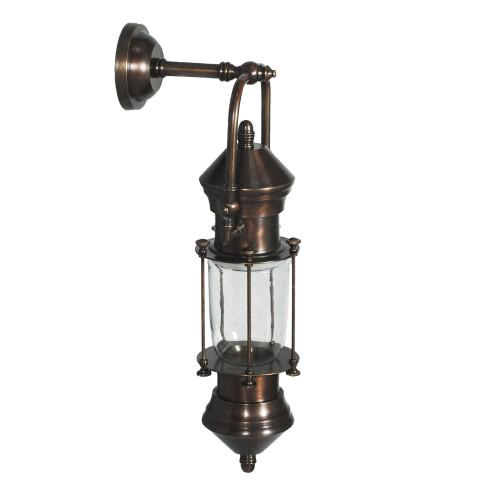 WALL LAMP, ANT. DARK BRASS 92