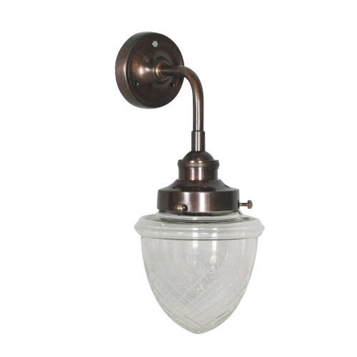 WALL LAMP, ANT. DARK BRASS 95