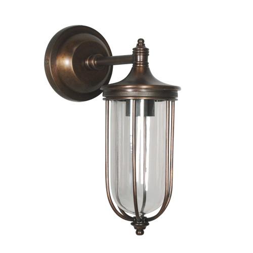 WALL LAMP, ANT. DARK BRASS 7
