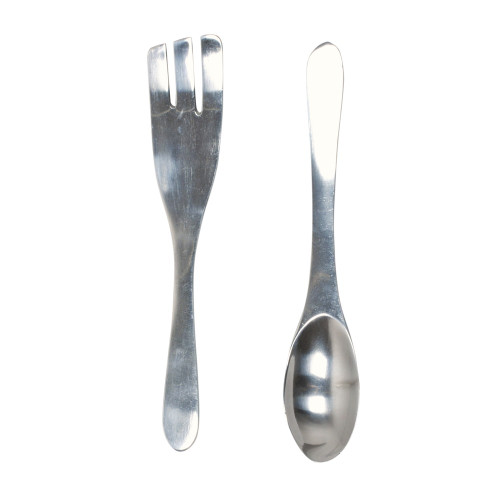 SALAD SERVER SET WITH CURVED HANDLE