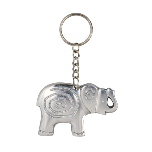 KEY RING ELEPHANT WITH SPIRAL