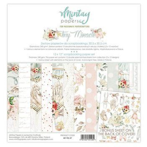 Mintay 'Tiny Miracle' 12 x 12 Paper Pack