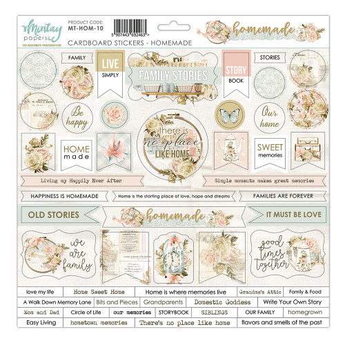 Mintay - Homemade - Cardstock Stickers