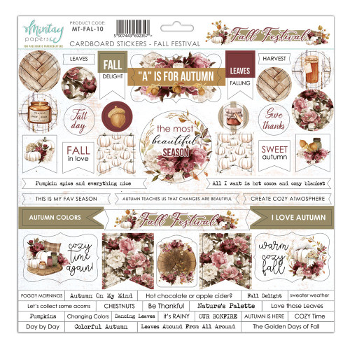 Mintay - Fall Festival - Cardstock Stickers