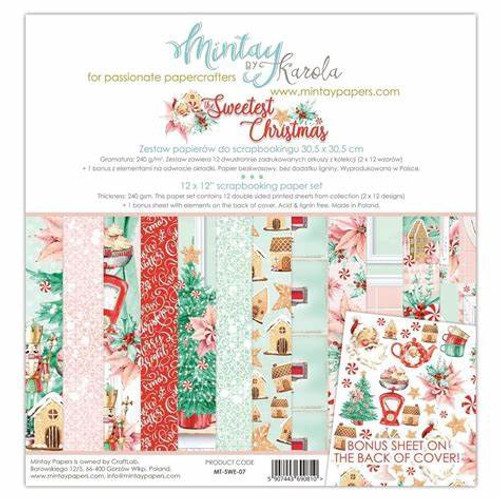 Mintay 'The Sweetest Christmas' 12 x 12 Paper Pack
