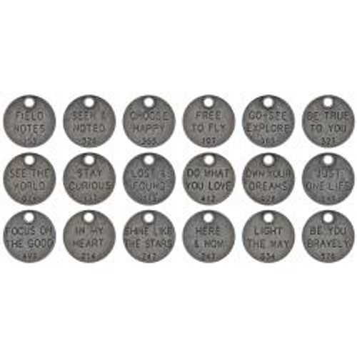 Tim Holtz Idea-ology - Metal Adornments - Thought Tokens