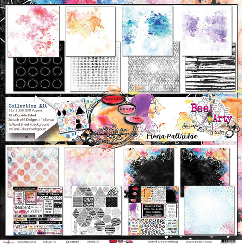 Bee Arty - Fearless Brave & Free - Paper Collection Pack