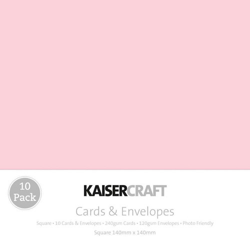Kaisercraft Card Pack - Square Baby Pink