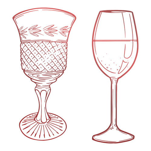 Couture Creations - Blooming Friendship - Mini Stamp - Glassware