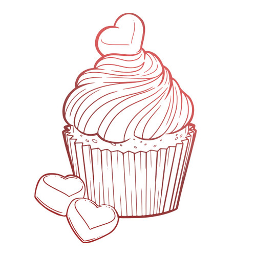 Couture Creations - Blooming Friendship - Mini Stamp - Chocolate Cupcake