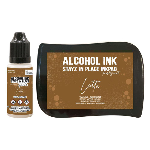 Couture Creations - Stayz in place Alcohol Ink - Latte - Pearlescent and Re inker