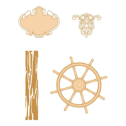 Couture Creations - Seaside Girl - Stamp - Navigating