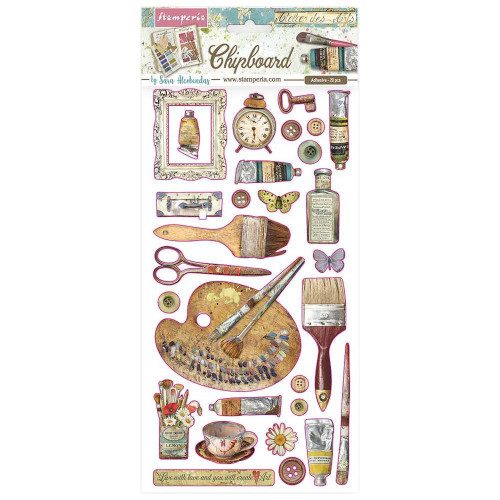 Stamperia - Adhesive Chipboard - Atelier Decorations