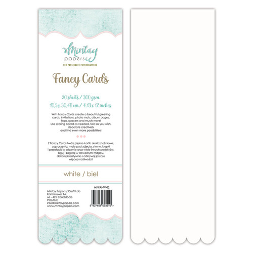 Mintay - Fancy Cards - White 02