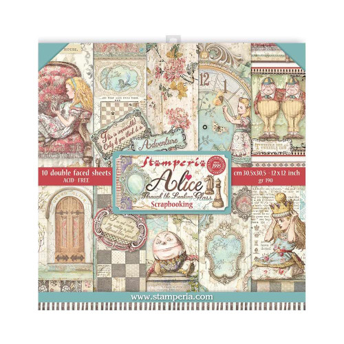 Stamperia - Alice Through the Looking Glass - 12 x 12 Paper Pad