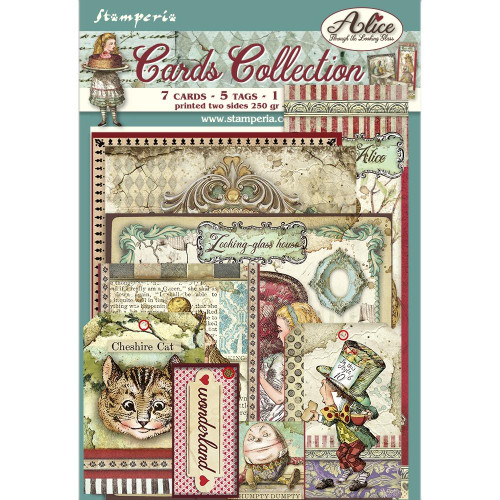 Stamperia - Alice Through the Looking Glass - Cards 02