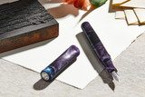 Kanilea Aolani fountain pen, Classic Pinched profile, sterling silver medallion, and Rhodium-plated 18k gold nib