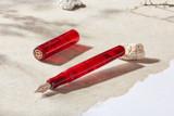 Kanilea Kona Cherry fountain pen, Classic Slim profile, rose gold medallion, and rose gold-plated steel nib