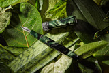 Kanilea Manta fountain pen with Maile Lei anniversary band in the Classic profile, Argentium Silver medallion, and Rhodium-plated 18k gold nib