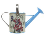 .75 Gallon Blue Floral Steel Watering Can