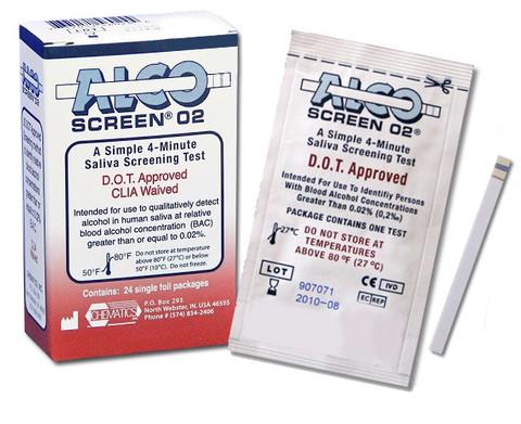 Alco Screen Saliva Tests