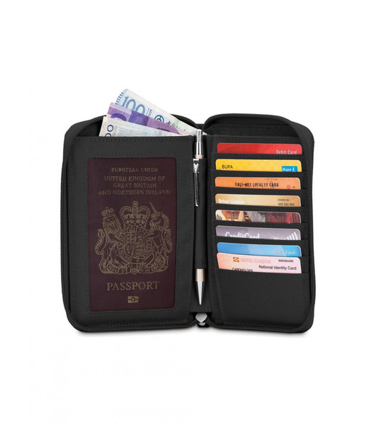 SALE Pacsafe RFIDSAFE LX150 RFID BLOCKING ZIPPERED PASSPORT WALLET