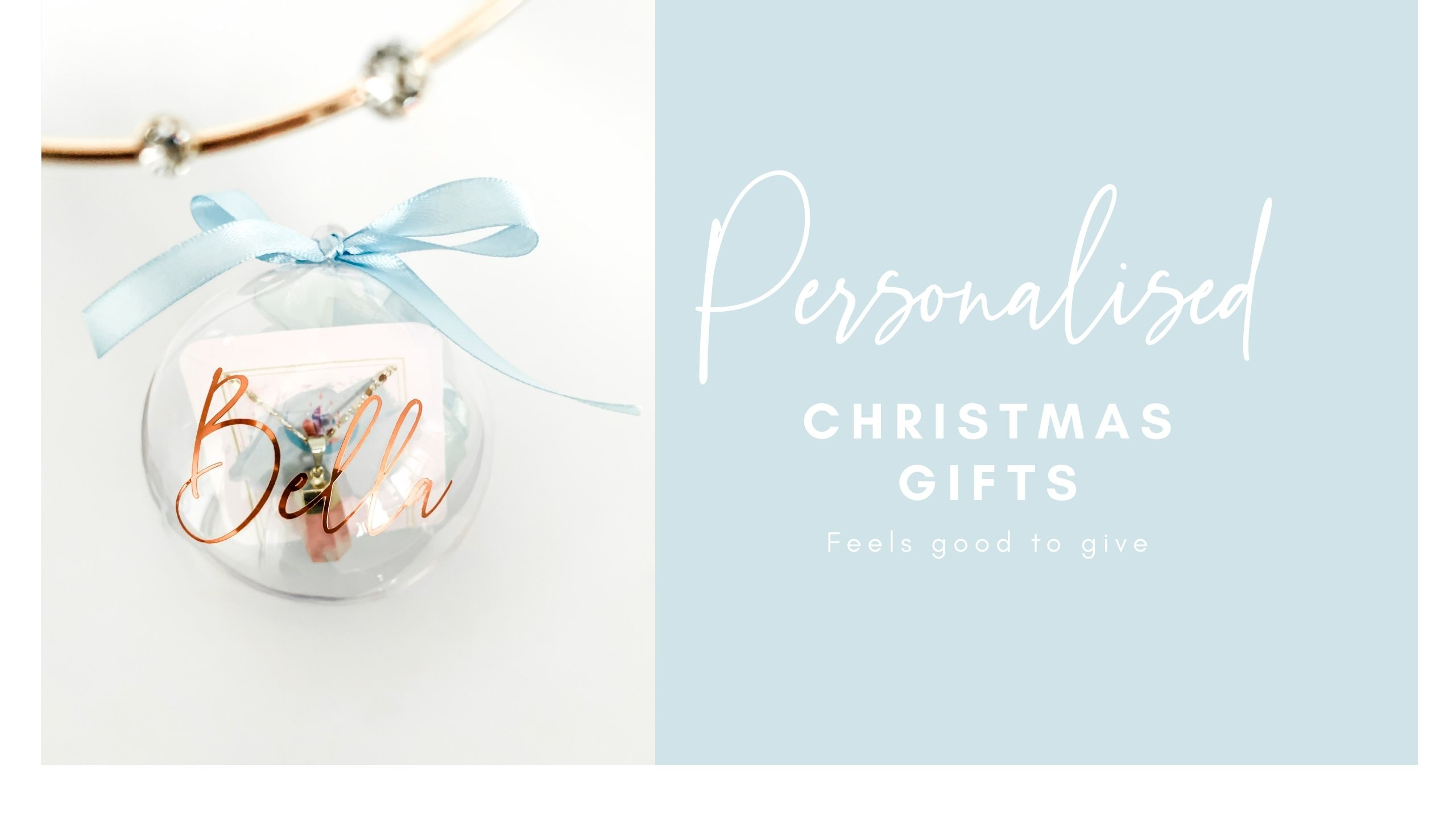 Personalised christmas gift with crystals