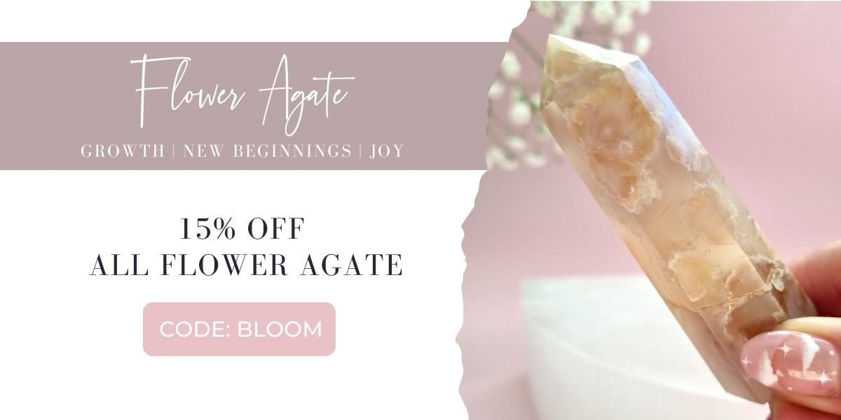 Flower Agate Crystals Australia
