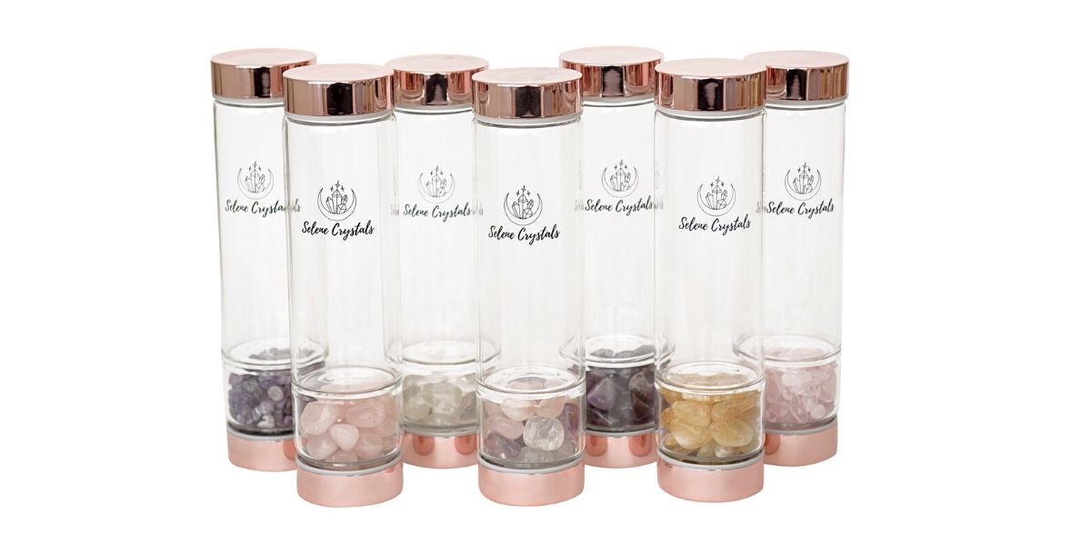 Rose Gold Crystal Water Bottle Afterpay available