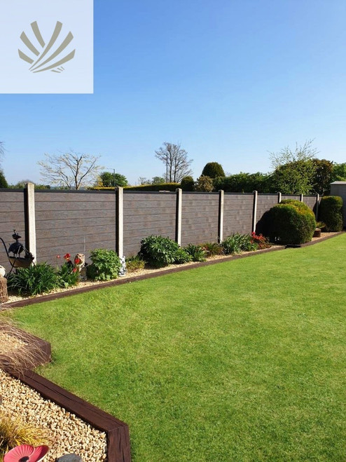 3D Embossed Composite Fence Pack - 3 Sizes & 3 Colours