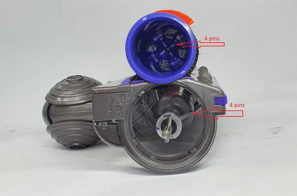 4 PIN DRIVE ROLLER BRUSH FOR DYSON V7 (SV-11)