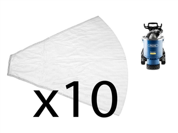 10 x Synthetic Bags for Pacvac Superpro 700 Series