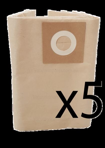 5 x Vacuum Bags For Shopvac All 20 - 30L Models, K11, K12, k14, Pro 20