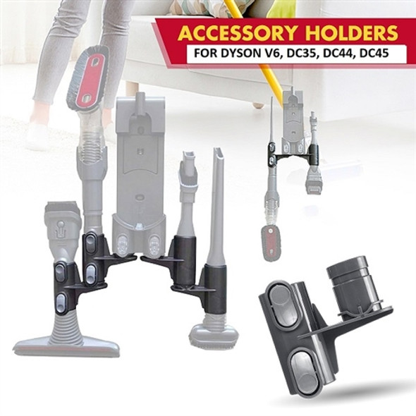 2 Extra accessory Holder For Dyson V6, DC35, DC44 and DC45