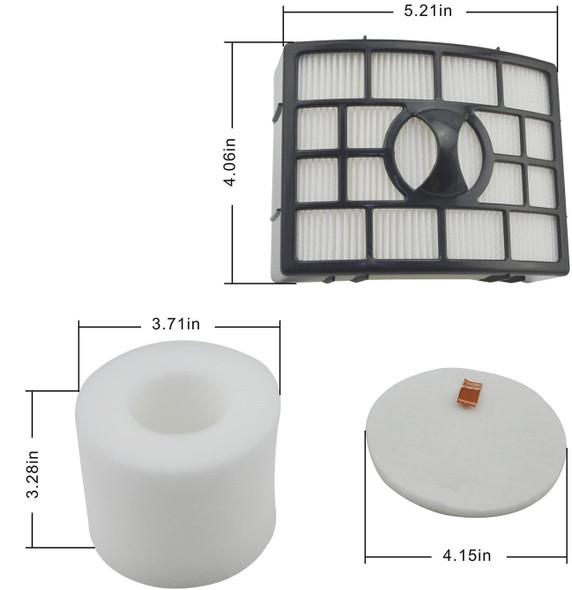 Filter kit for Shark NV750 Rotator Pro Lift Away