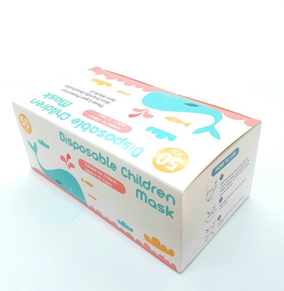 3 ply Children Face Mask pack of 50 Disposable