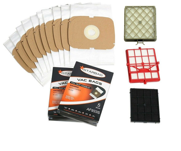 Bag and filter kit for Sauber Intelligence, Excellence & Classic vacuum cleaner