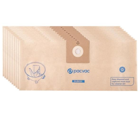 10 x Pacvac Glide Vacuum Cleaner Bags