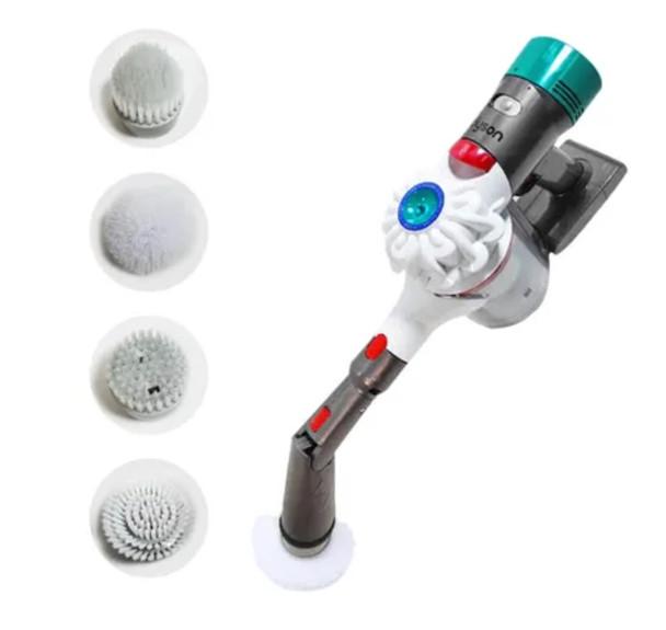 Power scrubber attachment for Dyson V7, V8, V10, V11 and V15 vacuum cleaners