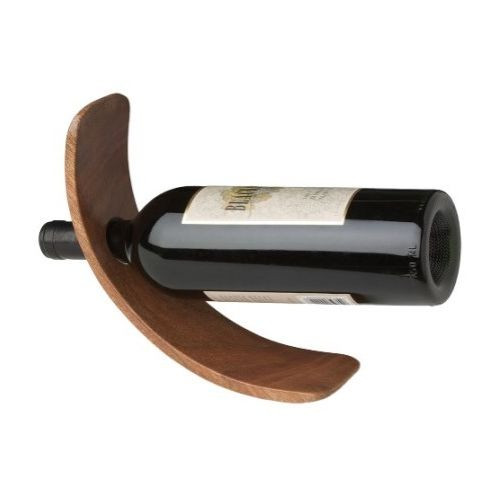 Curved Wine Bottle Holder With Custom Engraving