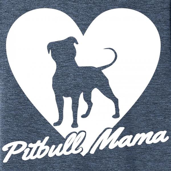Comical Shirt Ladies Pitbull Mama Tee Pitt Bully Dog Lover Tri-Blend Tank Top