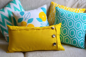 Mustard Yellow Oblong Cushion Cover