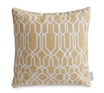 Beige Geometric WATERPROOF OUTDOOR Cushion Cover | ZAHAARA Sanctuary