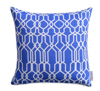 Greek Blue Geometric WATERPROOF OUTDOOR Cushion Cover | ZAHAARA Sanctuary