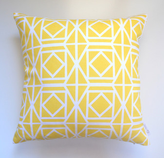 """Abagail"" Lemon Yellow Geometric Cushion Cover Older Stock"